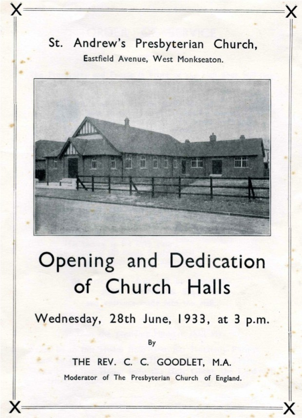 Opening of St. Andrew's Monkseaton