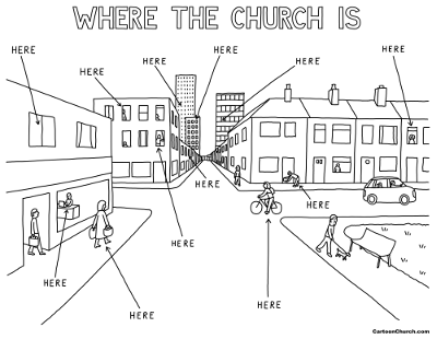 Where the church is by Dave Walker from cartoonchurch.com